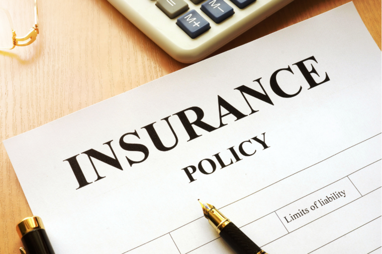 """Stock photo of paper form entitled """"insurance policy""""."""