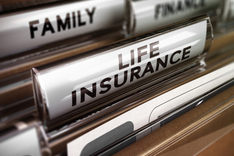 "Folder in filing cabinet labeled ""life insurance"""