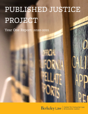 Cover of Published Justice Project 2020-2021 Report